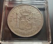 5 pesetas 1877 (*18-77). Alfonso XII. DEM 20170601_122949