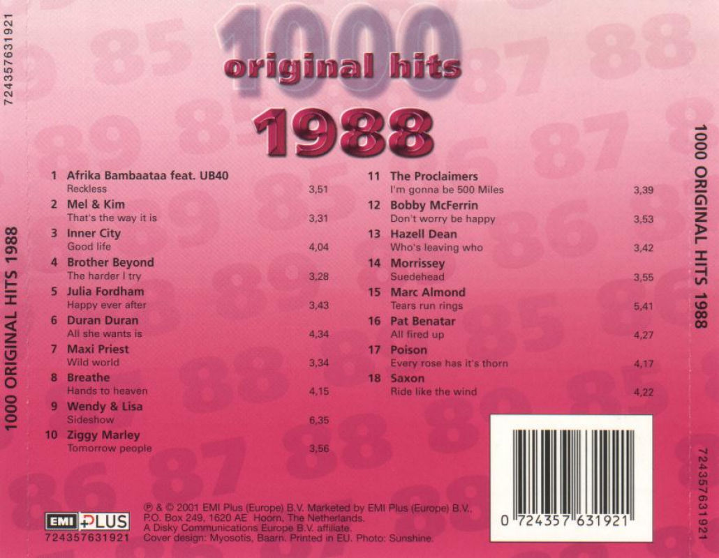 1000 Original Hits 1960-1999  - Stránka 2 1000_Original_Hits_1988_-_Back