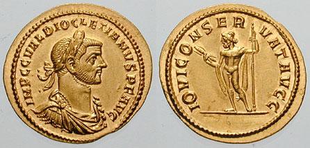 Denominación de monedas en la antigua Roma: El Bajo Imperio. 0_0aureo_diocleciano