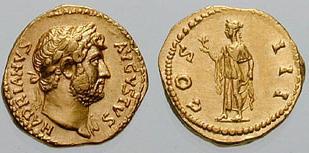 Denominación de monedas en la antigua Roma: El Alto Imperio. 0_0quinario_oro