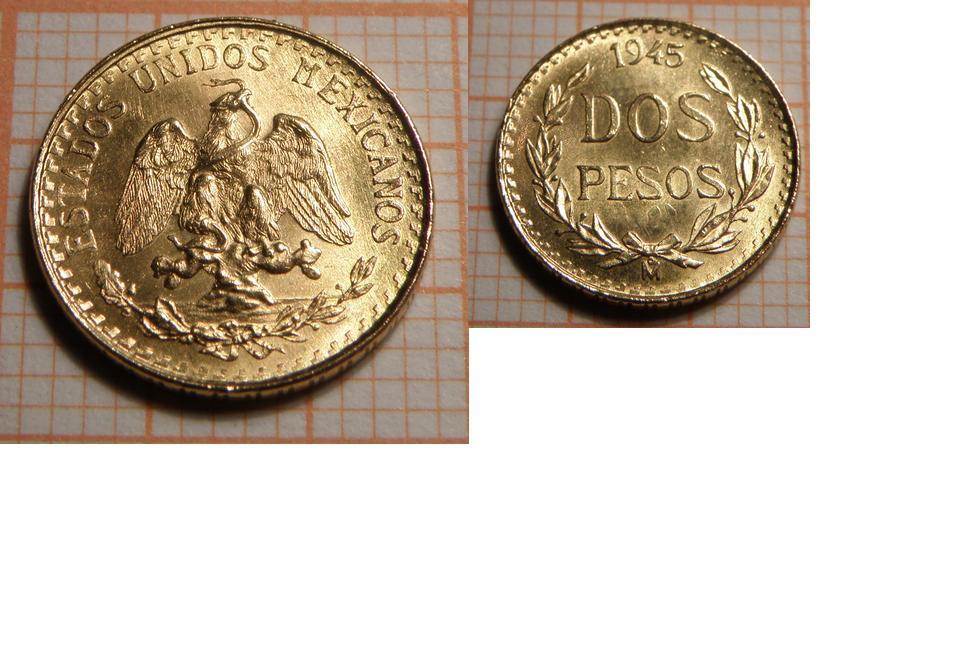 1/5 Hidalgo (2 Pesos de oro). Mexico. 1971 2_pesos_1945_JPEG