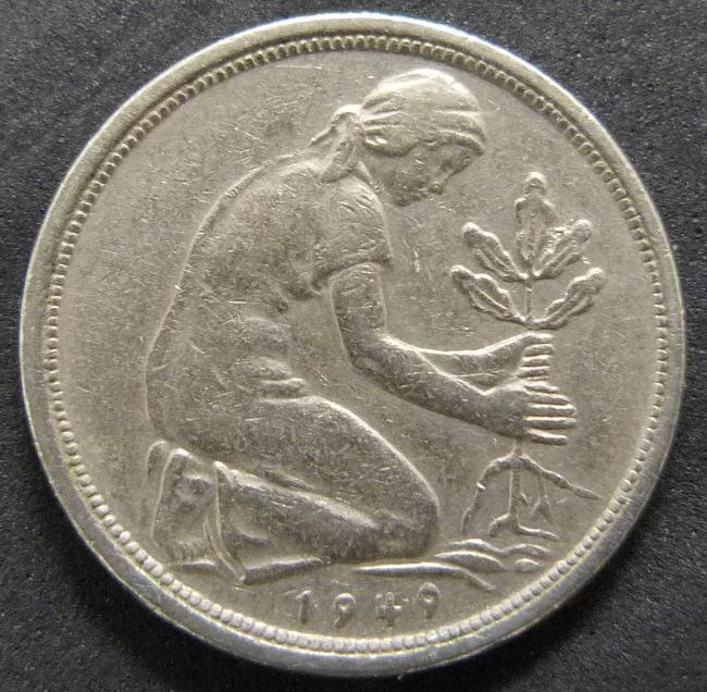 República Federal Alemana. 50 Pfennig (1949) RFA_50_Pfennig_Bank_Deutscher_L_nder_rev