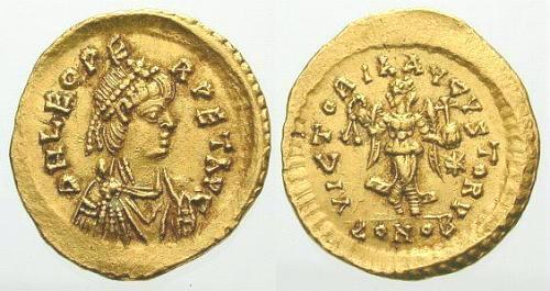 Denominación de monedas en la antigua Roma: El Bajo Imperio. Semisleoi1x