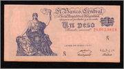 """Billetes del mundo con serie """"Ñ"""" Peso1"""