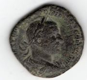 Sestercio de Treboniano Gallo. SALVS AVGG - S C. Salus estante a dcha. Ceca Roma. Mon004a