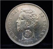 5 Pesetas 1871 G.P. Image