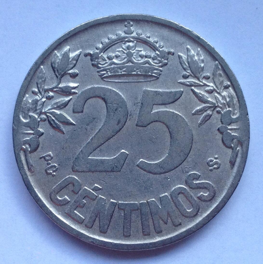 25 céntimos 1925- Opinión Image