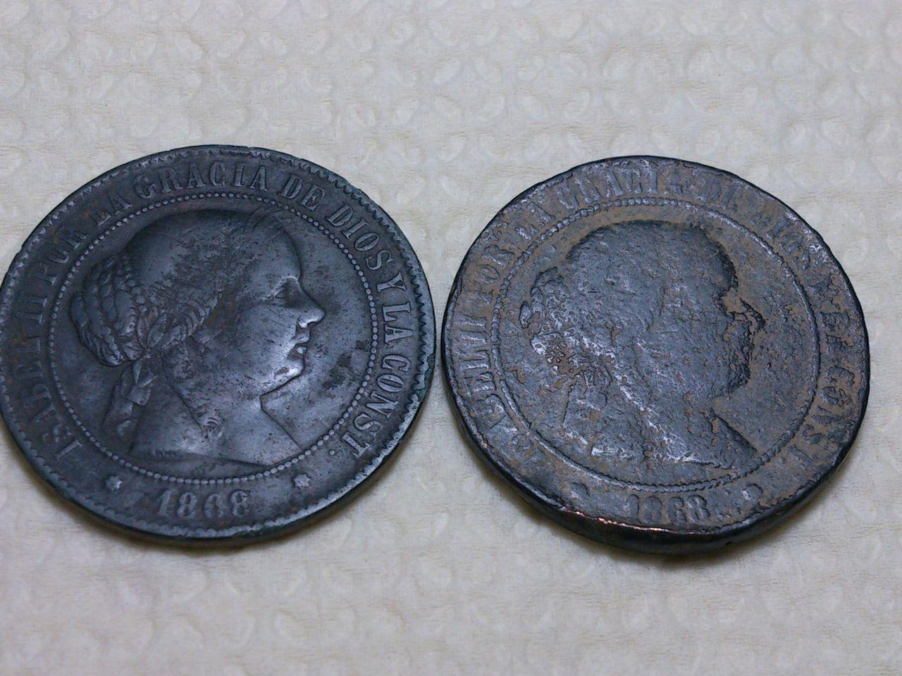 5 Centimos de escudo 1868 Isabel II. Barcelona. - Falsa o fundida? DSC_0308