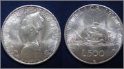 500 LIRA REPUBLICA DE ITALIA 1967 CARABELA 500_LIRA_ITALIA_1967