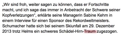 Michael Schumacher Traum