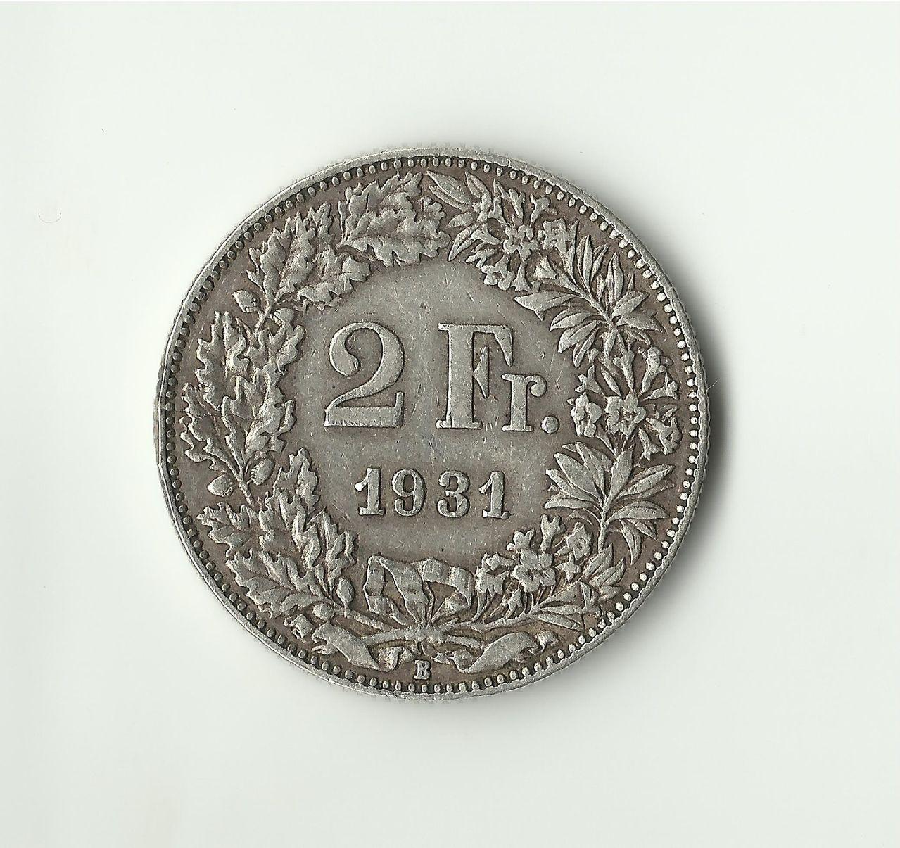 2 FRANCOS SUIZOS DE 1931 2francos_1931_anv