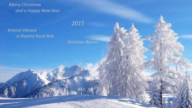 Vánoce a Nový Rok Fir_trees_winter_hoarfrost_snow_gray_hair_shadow