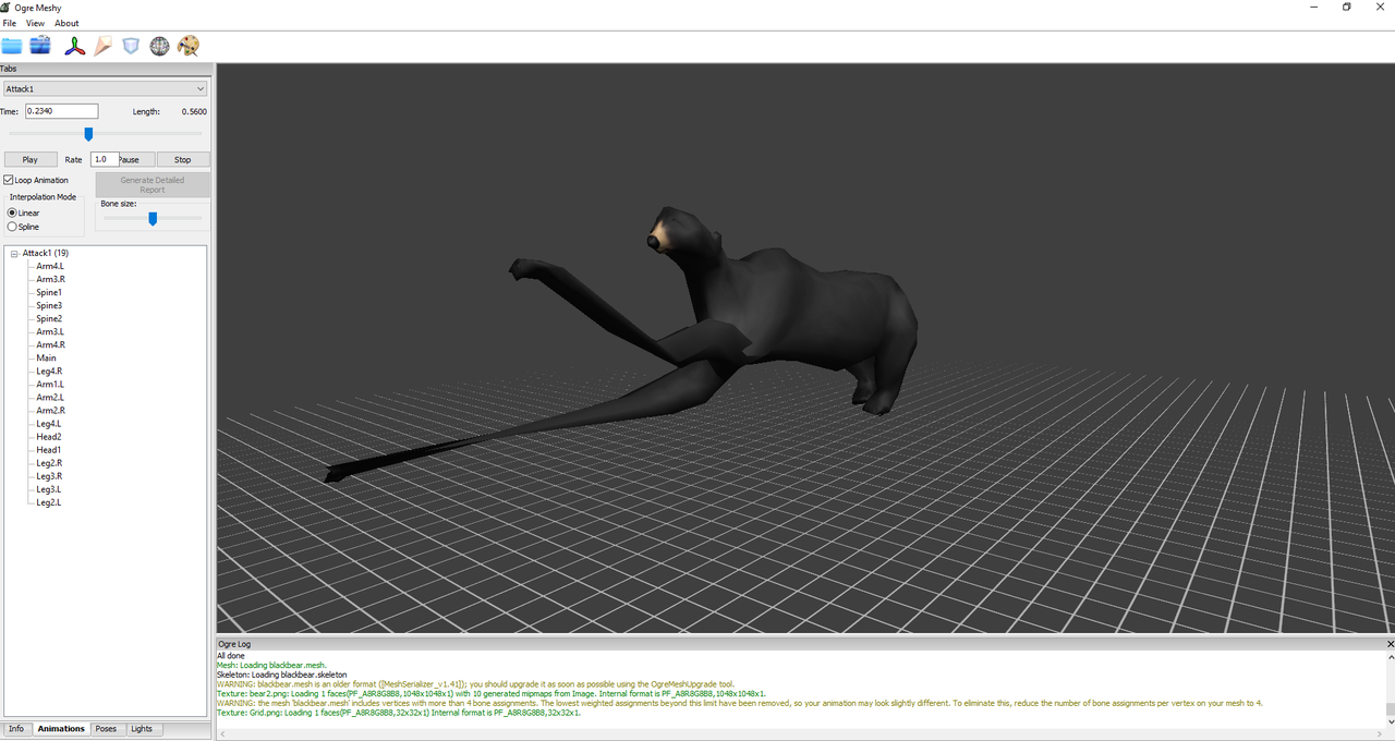 [SOLVED] Animations do not play correctly after export from Blender Helpme