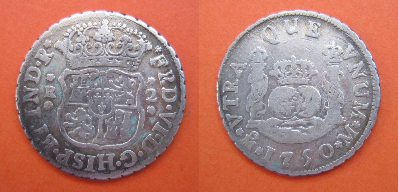2 Reales 1750. Fernando VI. México. 2_reales_1750_M_xico_Fernando_VI