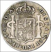 4 Reales Carlos III 1779 Santiago 309