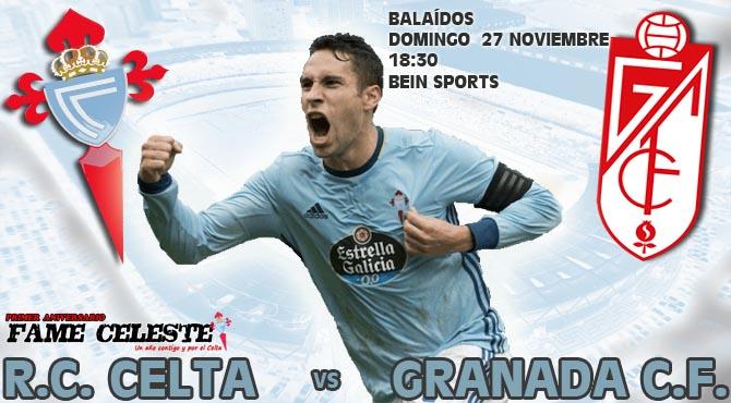 R.C. Celta 3-1 Granada C.F. | Jornada 13ª Liga  CELTA_GRANADA_2016_17