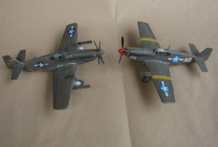 P-51 Mustang, Academy i P-51B Mustang (rebuild) Revell, 1/72 DSC02593