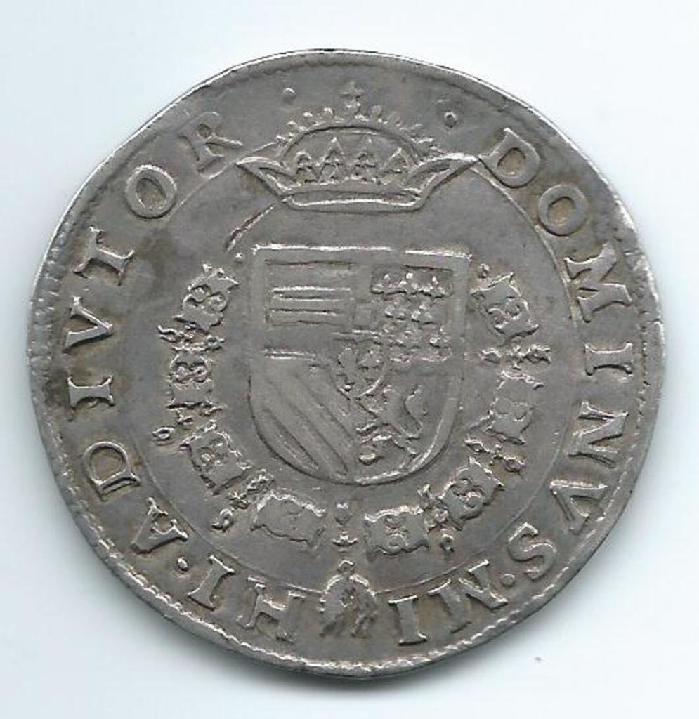 Escudo de la Cruz de Borgoña, 1568 Felipe II. Flandes, ceca de Brujas Image