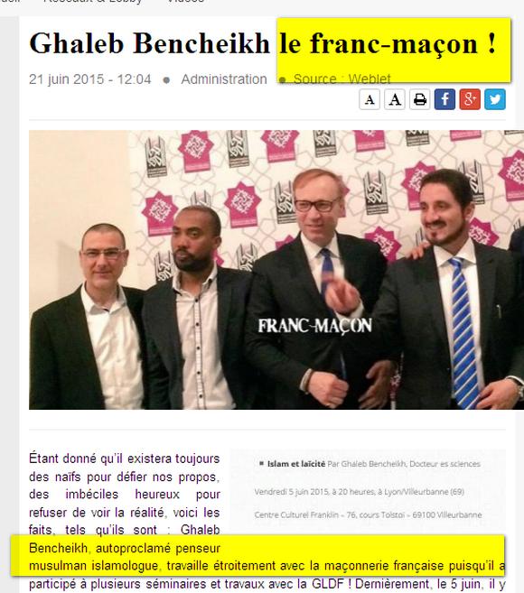 Islamophobes et leur relation avec Sionisme et F.M Image