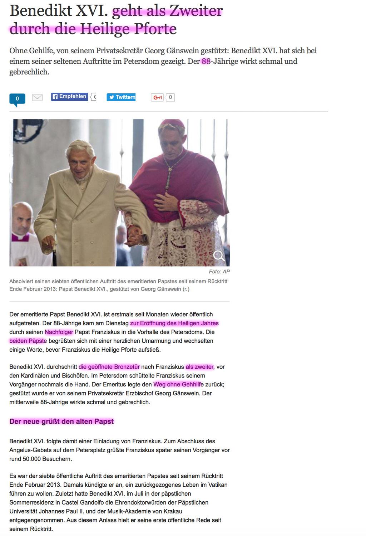 Papst Franziskus (IHS) als Führer der Weltreligion - Seite 6 Ratzinger