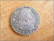 II aniversario Numismario: 2 Reales Carlos IV 1808 Madrid. P1270050