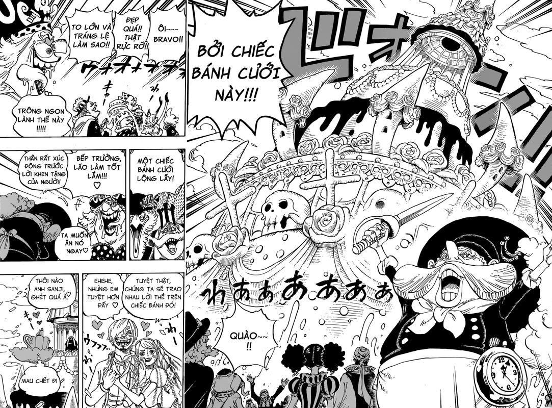 One Piece Chapter 862: Phe sử dụng đầu óc 04-05