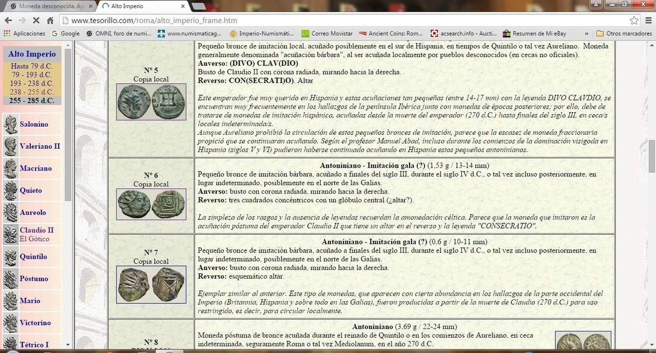 Radiado póstumo de Claudio II.  CONSECRATIO.   Águila  Claudio