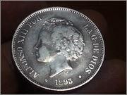 5 pesetas 1893.*18-93* Alfonso XIII - P.G.V.- 20131106_185416