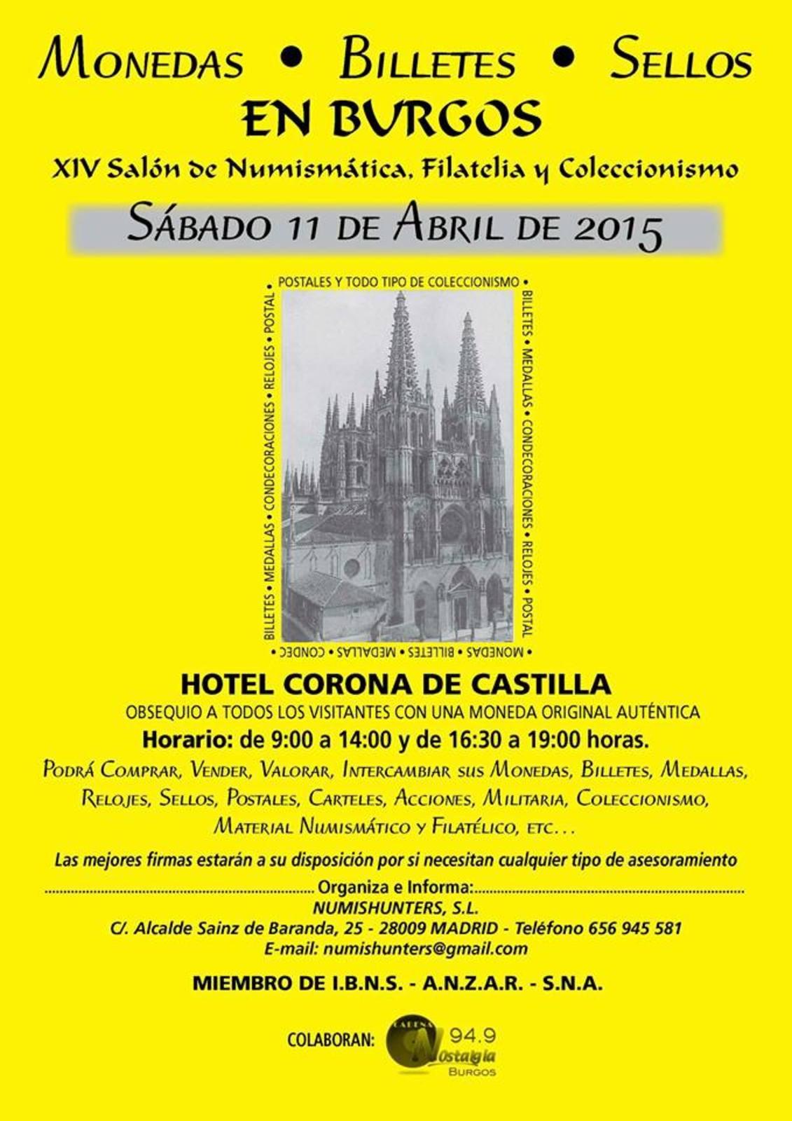 Convención Numismática en Burgos, Sábado 11 de Abril 11046799_800974869982587_4576970223110062924_n