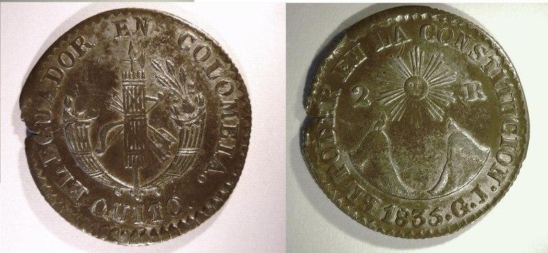 EN LA MITAD DEL MUNDO 2_reales_ecuador_1835