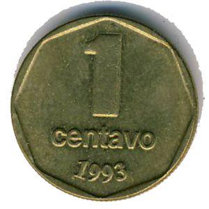 1 Centavo. Argentina. 1992  1_Centavo_Round