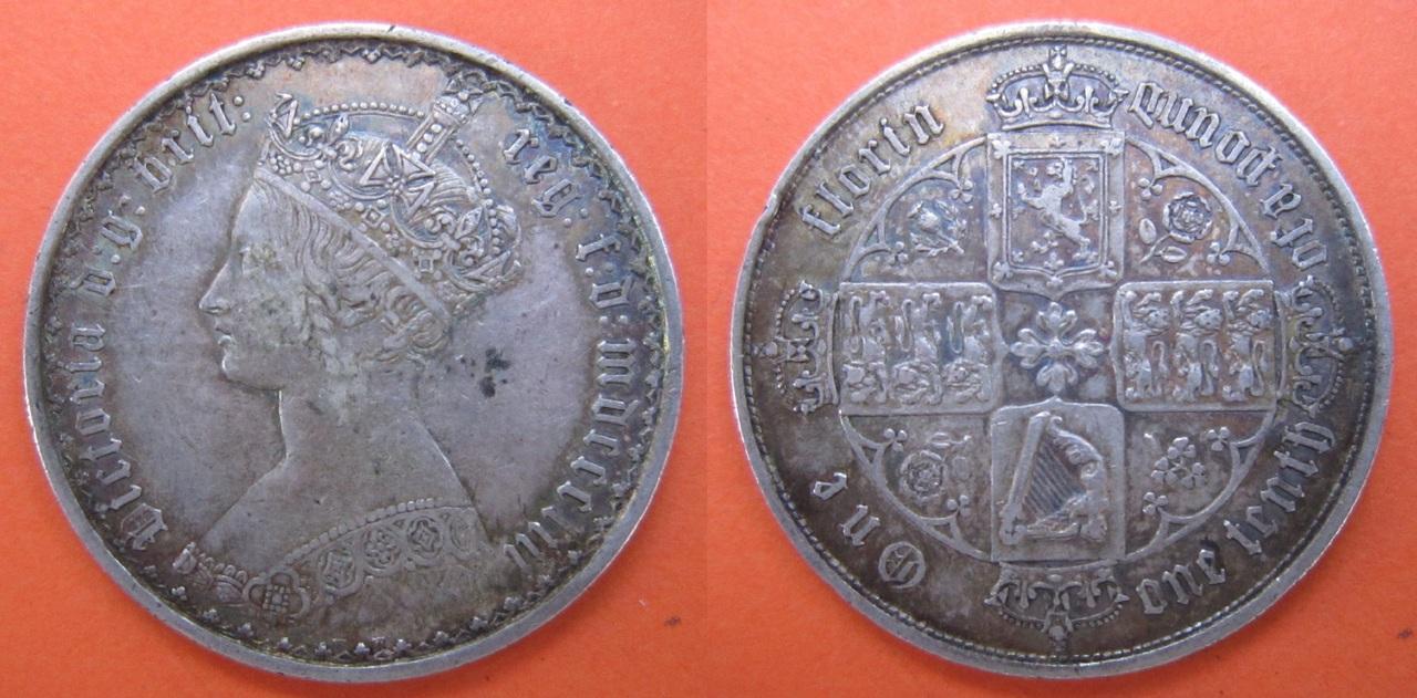 1 florín. Gran Bretaña 1853 1_Flor_n_Gran_Breta_a_1853