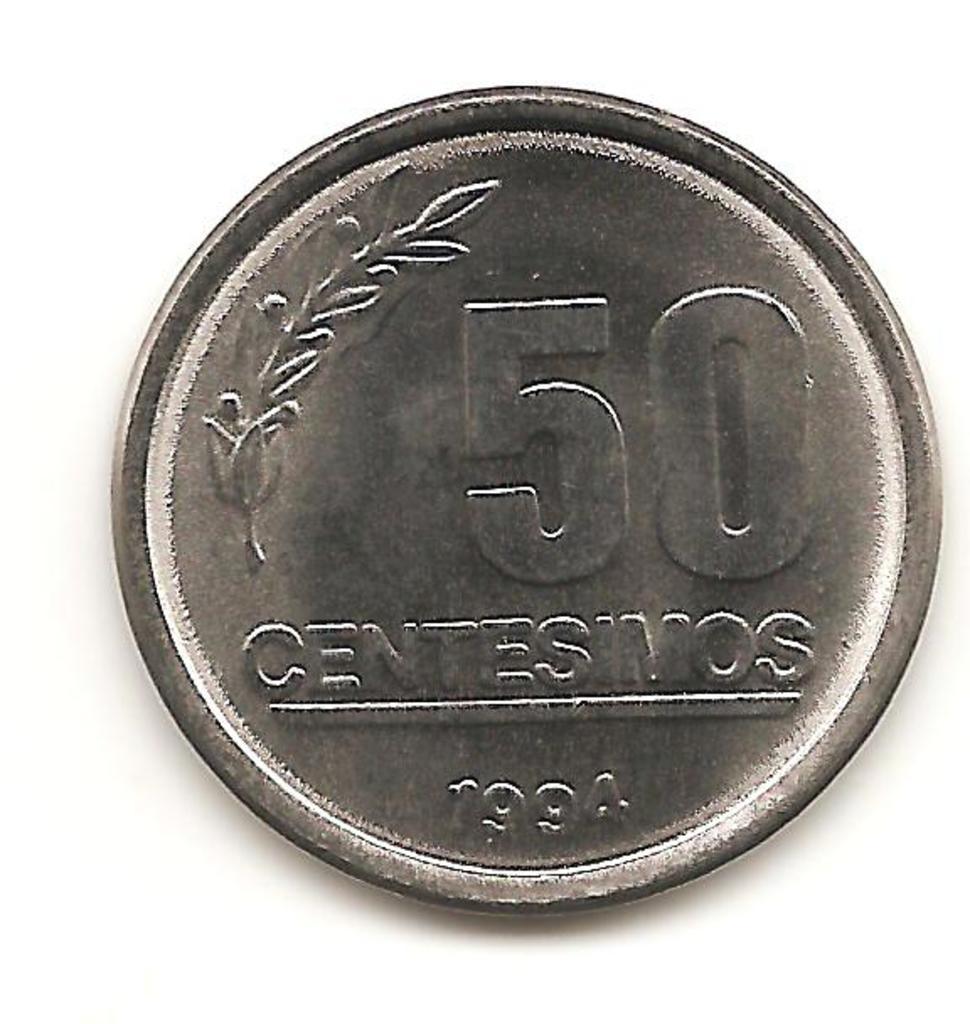 50 céntimos de Uruguay año 1994 Image