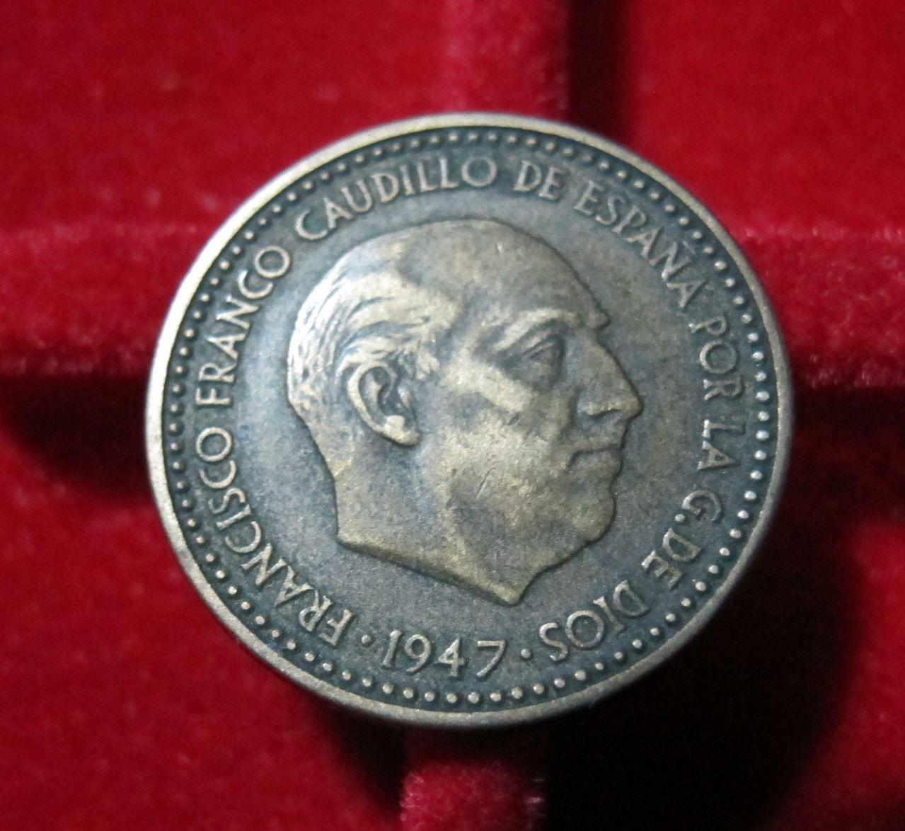 1 Peseta 1947 *49. Estado español. Conservación? Pes49_1