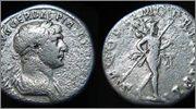 Denario de Trajano. P M TR P COS VI P P S P Q R. Marte. RIC_0157