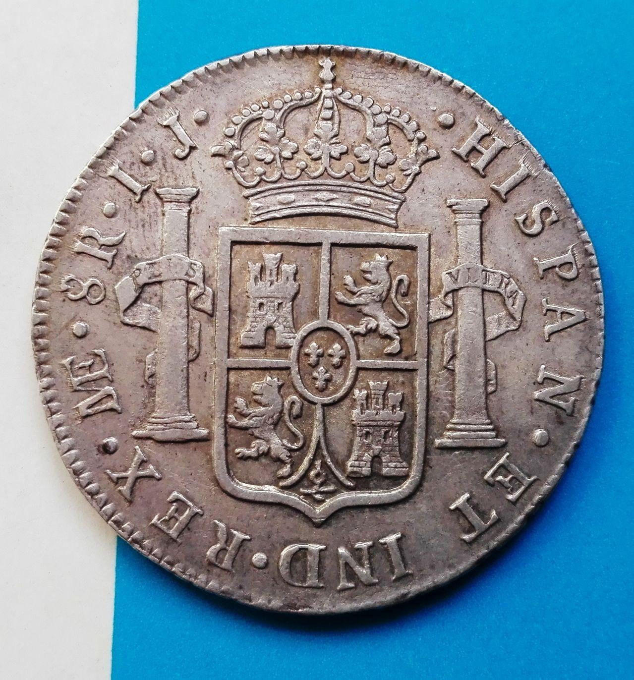8 reales 1790 Carlos IV, Lima 8_reales_1790_lima_4