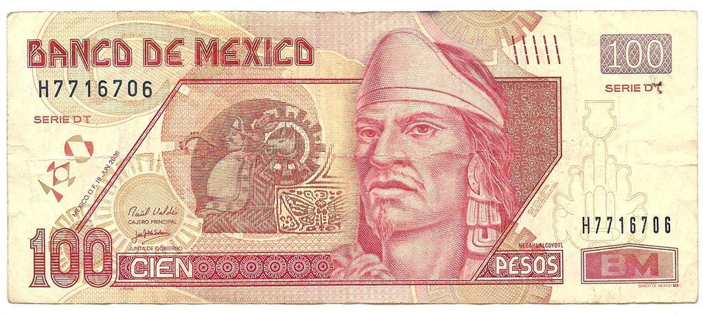 100 Pesos México, 2006 Image
