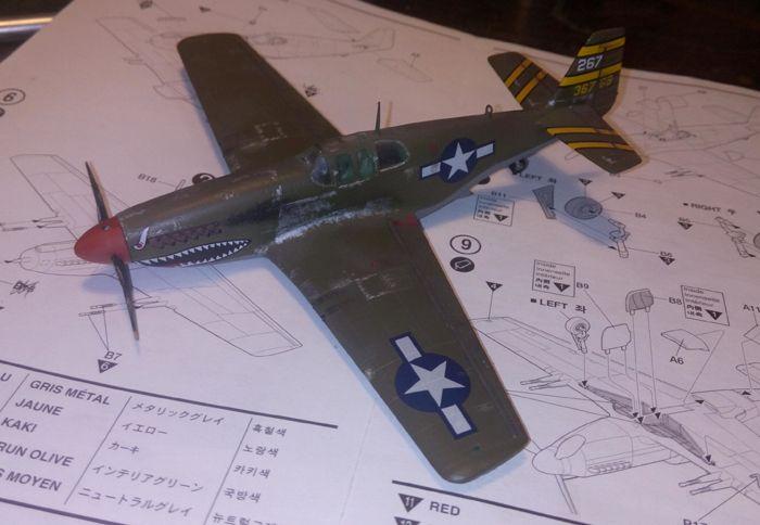 P-51 Mustang, Academy i P-51B Mustang (rebuild) Revell, 1/72 IMG_20160928_144953