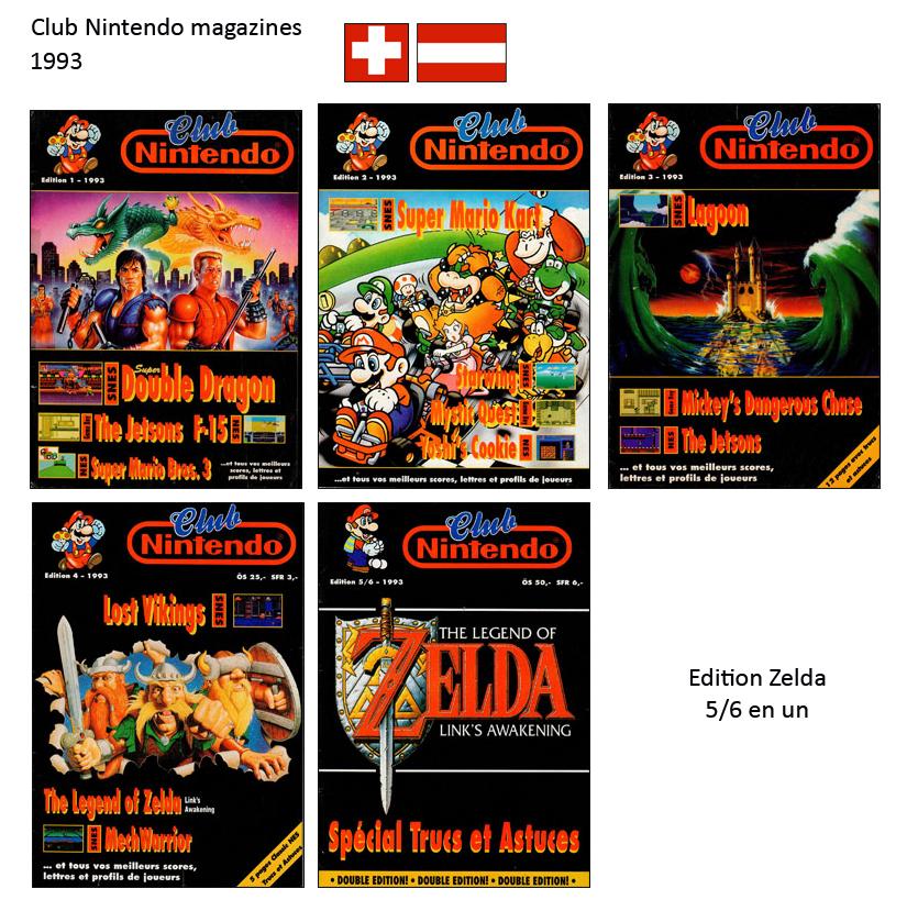 """Magazine """"Club Nintendo"""" 1993_Suisse"""