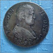 8 Reales 1809 MP Fernando VII Reus (Cataluña) ceca volante , Diafebus dedit. Image