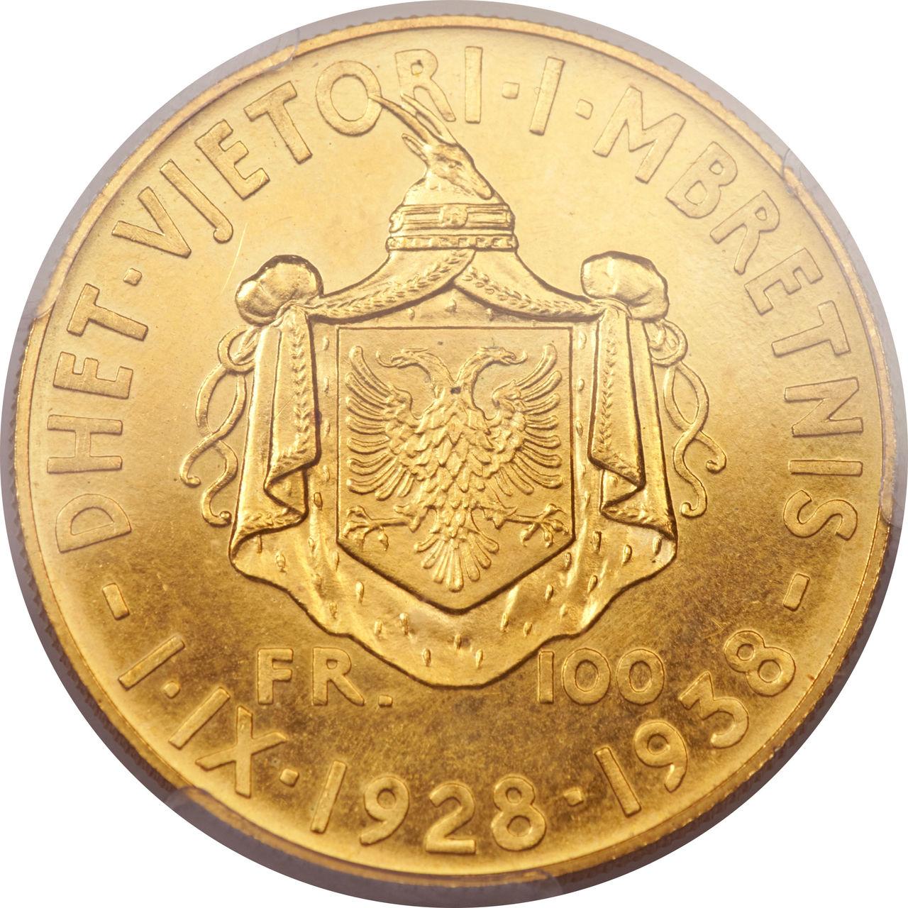 100 Francs. Albania. 1938  Lf_CART5_NFQ