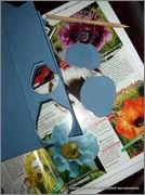Скрапбукинг. Голубой мак, карандашница или декорваза для сухоцветов. 1_DSCF1911