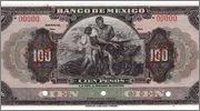 100 PESOS 1925-34, Mexico SPECIMEN Mexico_M4619_100_pesos_1925_34_SPECIMEN