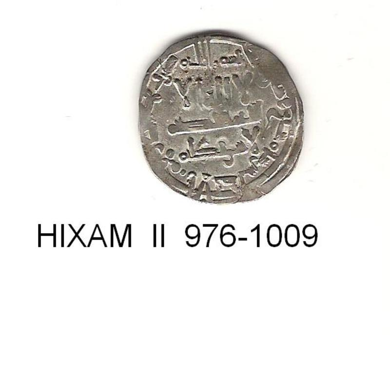 dirhem de Hixam II año hégira 366-399 o 976-1009 J.C. DIRHEM_AL_ANDALUS_4