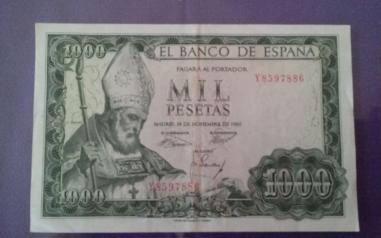 1000 pesetas de 1965 1411056342198
