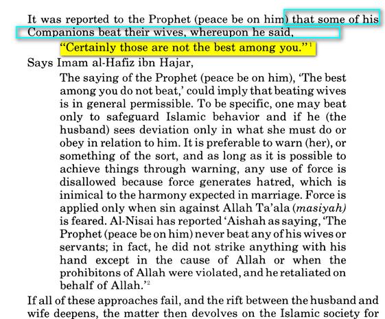 Le Coran ordonne t-il de frapper sa femme Image