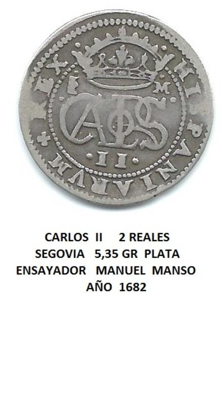 2 reales de 1682. Carlos II, ceca de Segovia Image