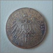 5 Marcos 1914 D  Ludwuig III ,Rey de Bavaria(Imperio Aleman) Image