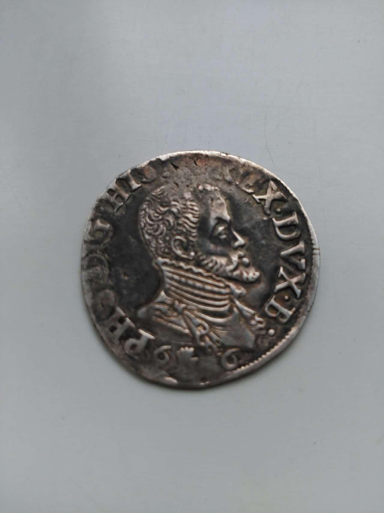 1/5 escudo 1566. Felipe II. Brujas Image