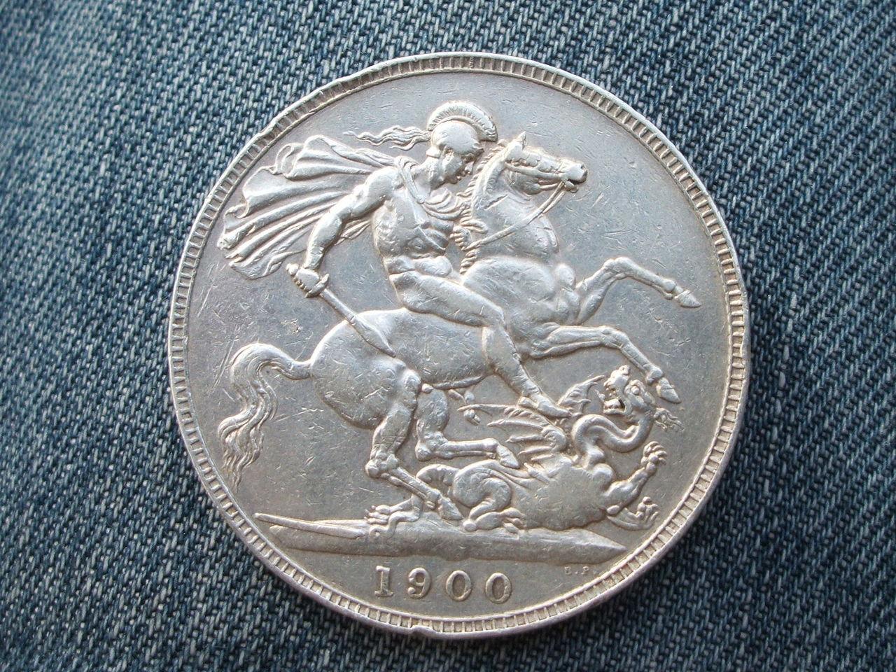 1 Crown. Reyna  Victoria. Reino Unido.  1900 013